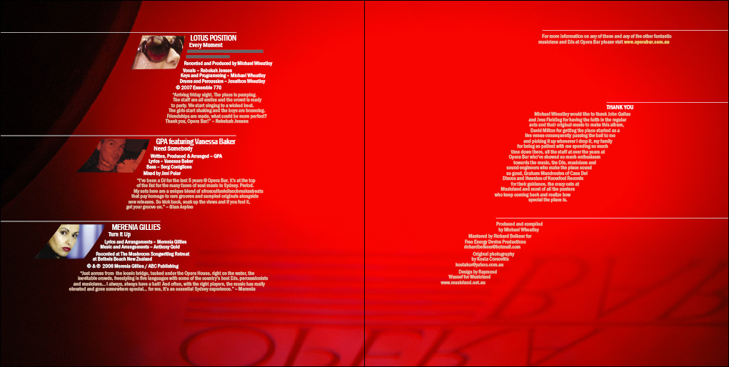 Opera Bar CD Design